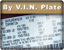 Get to know the tire size by VIN plate.